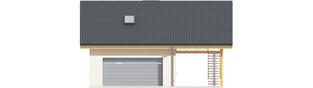Projekt domu Garaż G31 (z wiatą) - elewacja frontowa