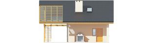 Projekt domu Garaż G31 (z wiatą) - elewacja tylna