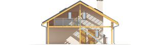 Projekt domu Garaż G31 (z wiatą) - elewacja prawa