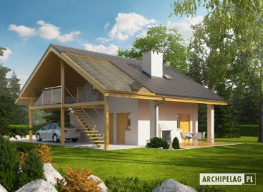 Projekt: Garaż G31 (z wiatą)