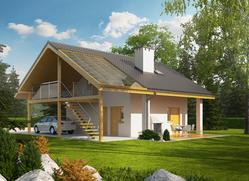 Projekt Garaż G31 (z wiatą)