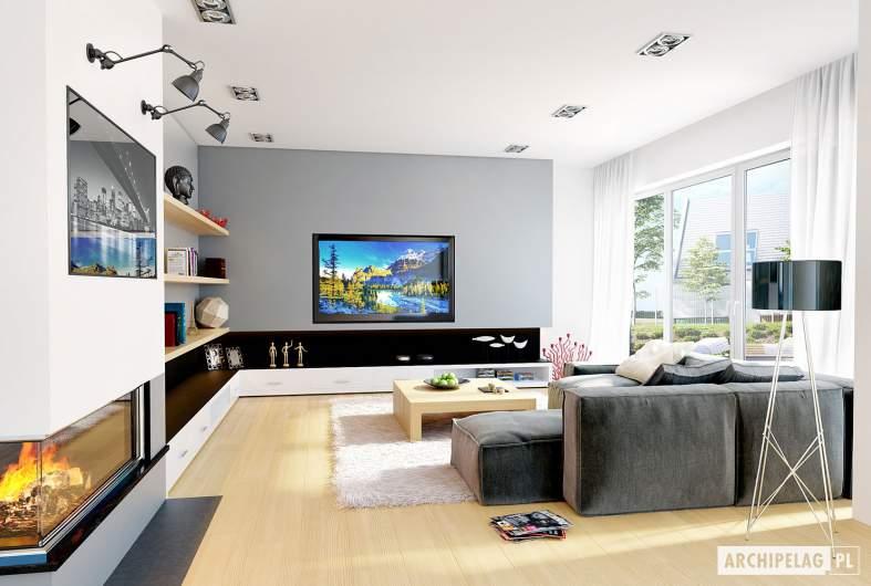 Projekt domu Naomi G2 - wizualizacja pokój dzienny