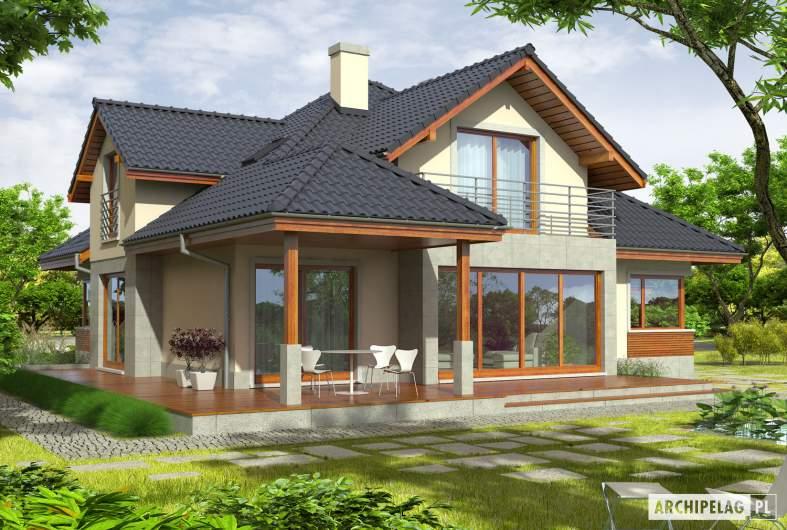 Projekt domu Naomi G2 - wizualizacja orgodowa