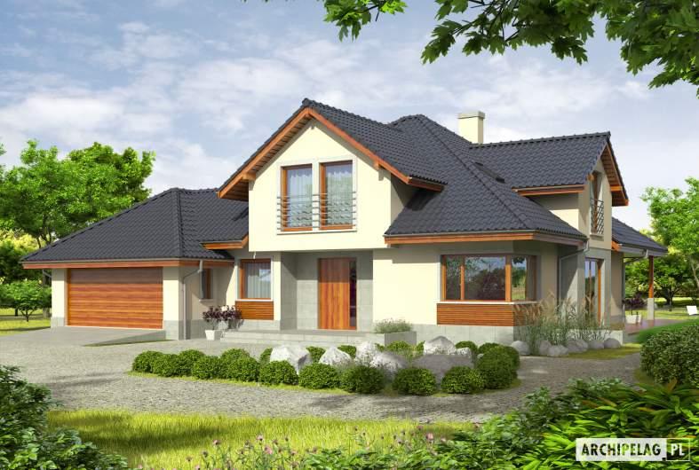 Projekt domu Naomi G2 - wizualizacja frontowa