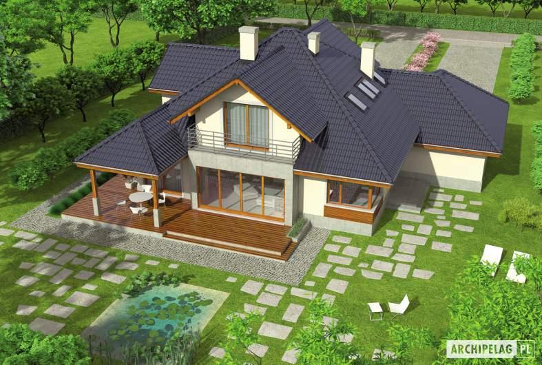 Projekt domu Naomi G2 - widok z góry