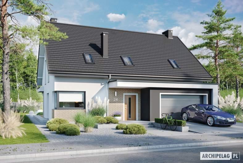 Projekt domu Zuzanna G2 - wizualizacja frontowa