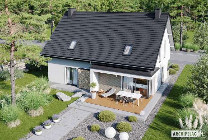 Projekt domu Zuzanna G2 - widok z góry