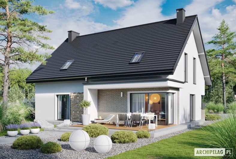 Projekt domu Zuzanna G2 - wizualizacja ogrodowa