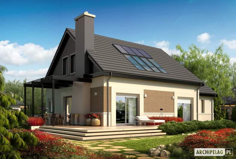 Projekt domu Niki II G1 ENERGO - wizualizacja ogrodowa