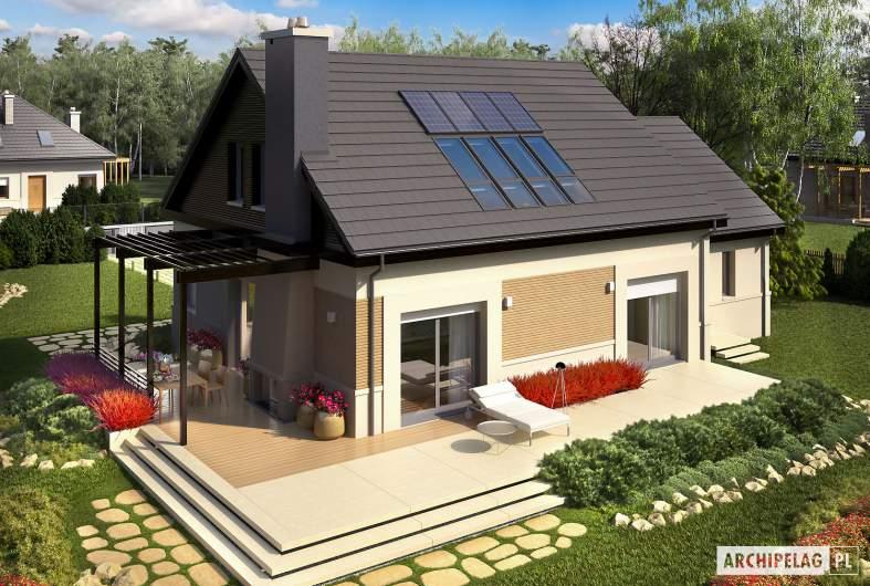 Projekt domu Niki II G1 ENERGO - widok z góry