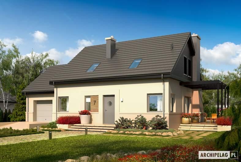 Projekt domu Niki II G1 ENERGO - wizualizacja frontowa