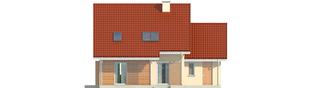 Projekt domu Morena G1 - elewacja tylna