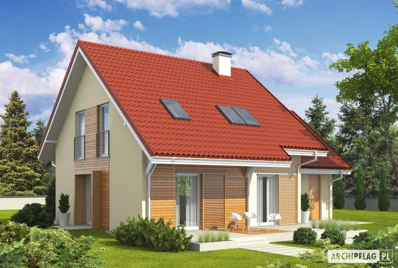 Projekt domu Morena G1 - wizualizacja ogrodowa
