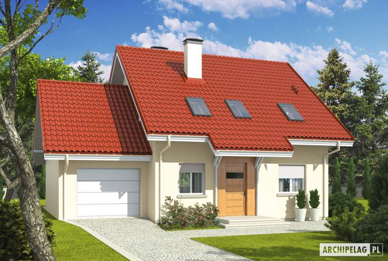 Projekt domu Morena G1 - wizualizacja frontowa