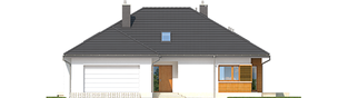 Projekt domu Marcel G2 MULTI-COMFORT - elewacja frontowa