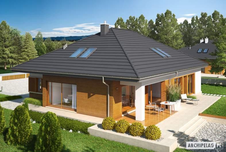 Projekt domu Marcel G2 MULTI-COMFORT - widok z góry