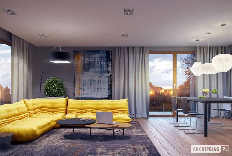 Projekt domu Marcel G2 MULTI-COMFORT - wizualizacja pokój dzienny, jadalnia