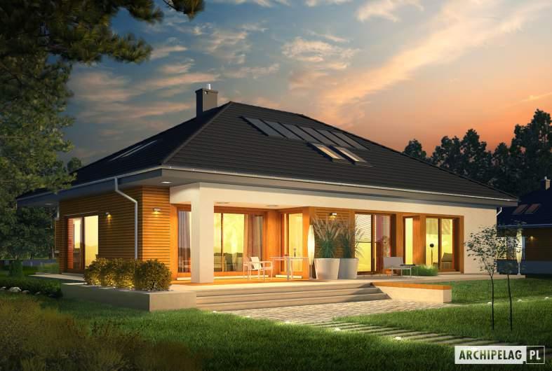 Projekt domu Marcel G2 MULTI-COMFORT - wizualizacja ogrodowa nocna
