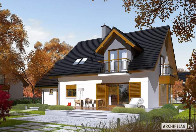 Projekt domu Marisa V G1 ENERGO - Projekty domów ARCHIPELAG - Marisa V G1 ENERGO - wizualizacja ogrodowa