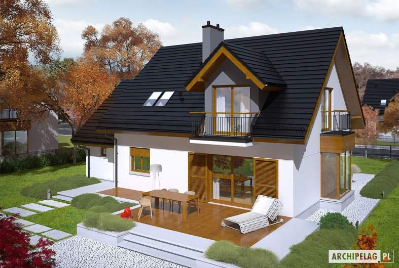Projekt domu Marisa V G1 ENERGO - Projekty domów ARCHIPELAG - Marisa V G1 ENERGO - widok z góry