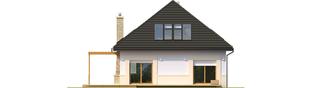 Projekt domu Niki (wersja B) ENERGO - elewacja tylna