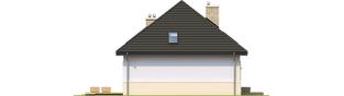 Projekt domu Niki (wersja B) ENERGO - elewacja lewa