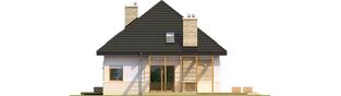Projekt domu Niki (wersja B) ENERGO - elewacja prawa