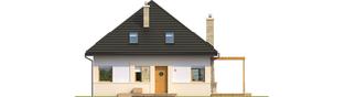 Projekt domu Niki (wersja B) ENERGO - elewacja frontowa
