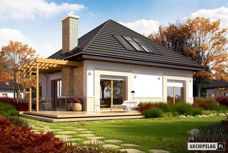 Projekt domu Niki (wersja B) ENERGO - wizualizacja ogrodowa
