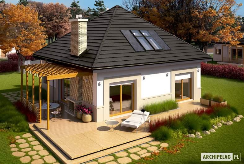 Projekt domu Niki (wersja B) ENERGO - widok z góry
