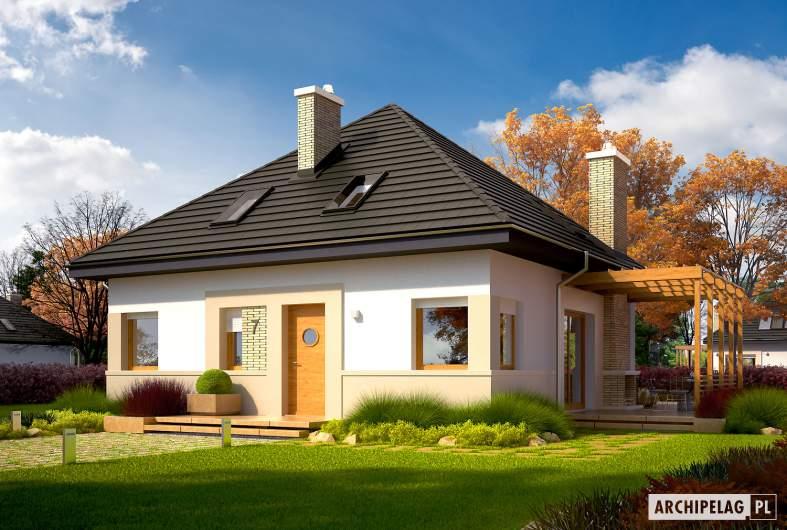 Projekt domu Niki (wersja B) ENERGO - wizualizacja frontowa