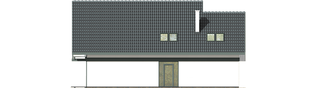 Projekt domu Rocco G1 - elewacja tylna