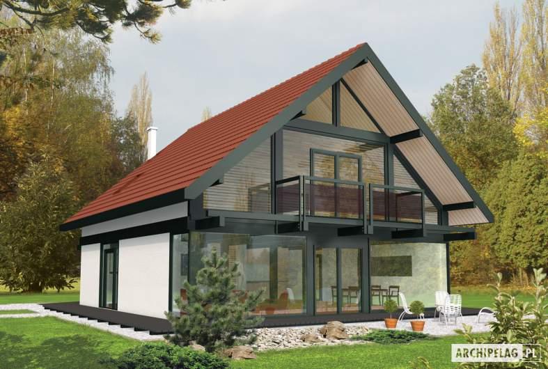 Projekt domu Rocco G1 - wizualizacja ogrodowa