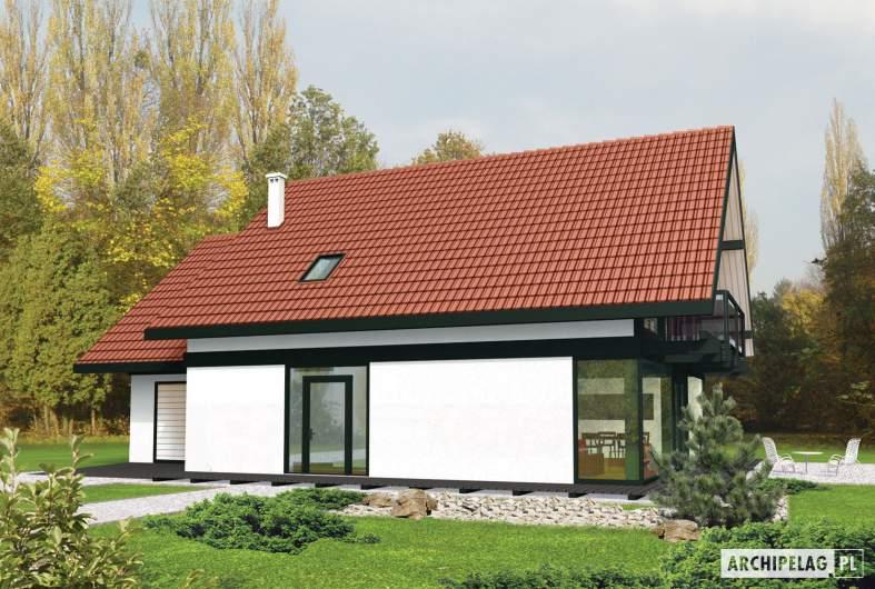 Projekt domu Rocco G1 - wizualizacja frontowa