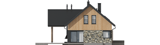 Projekt domu Nikolas G1 - elewacja lewa