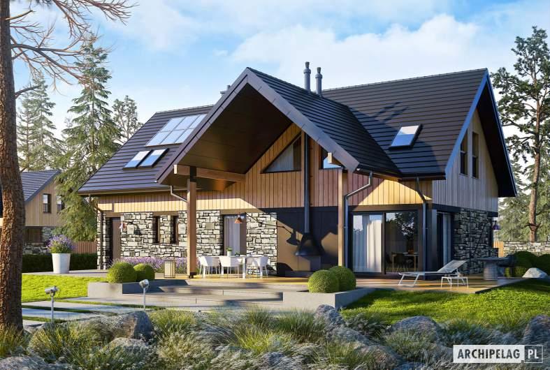 Projekt domu Nikolas G1 - wizualizacja ogrodowa