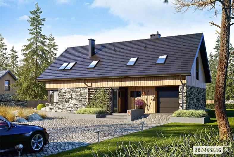 Projekt domu Nikolas G1 - wizualizacja frontowa