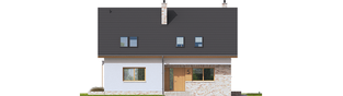 Projekt domu Logan - elewacja frontowa