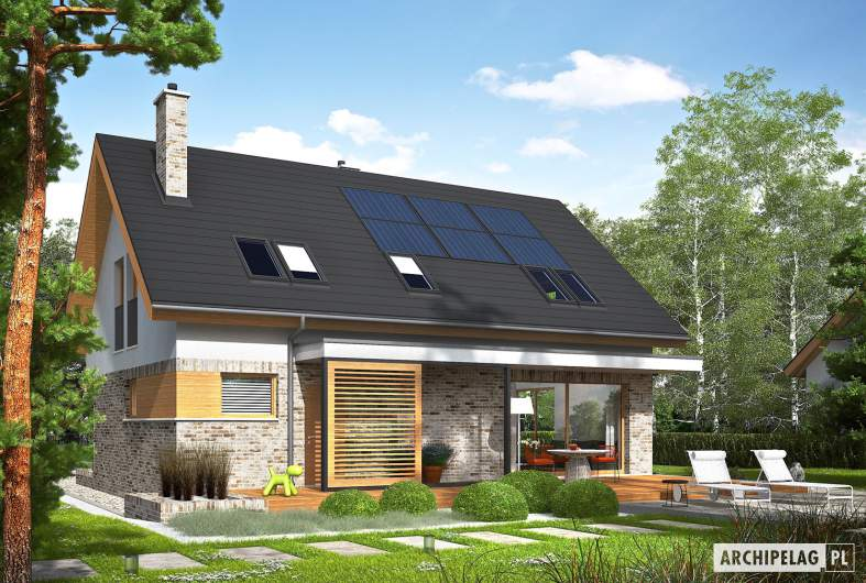 Projekt domu Logan - wizualizacja ogrodowa