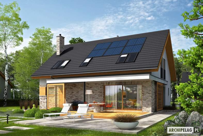 Projekt domu Logan - wizualizacja ogrodowa prawa