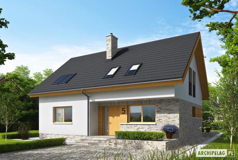 Projekt domu Logan - wizualizacja frontowa