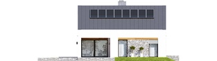 Projekt domu Ralf G1 - elewacja tylna