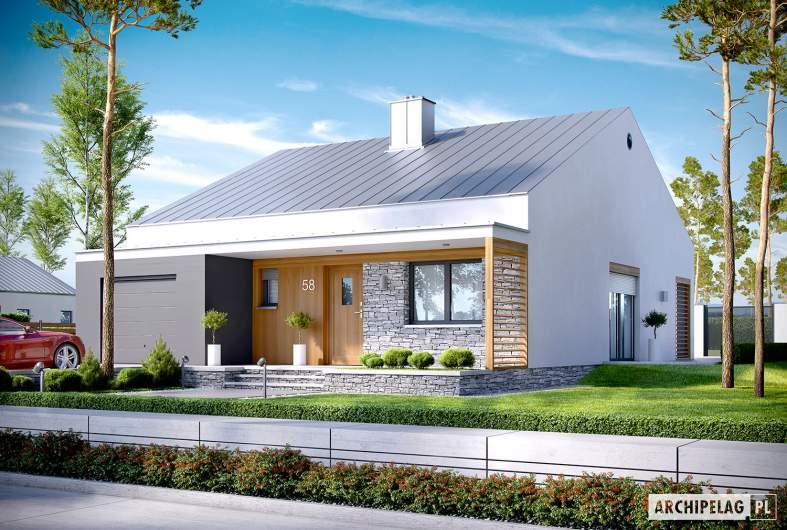 Projekt domu Ralf G1 - wizualizacja frontowa