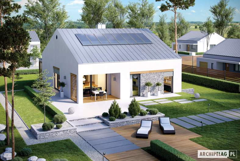 Projekt domu Ralf G1 - widok z góry