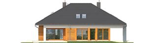 Projekt domu Marcel G2 - elewacja tylna