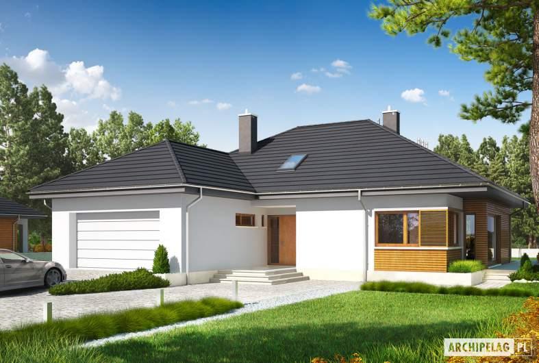 Projekt domu Marcel G2 - wizualizacja frontowa