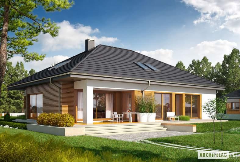 Projekt domu Marcel G2 - wizualizacja ogrodowa