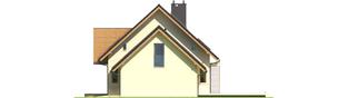 Projekt domu E5 G1 ECONOMIC (wersja A) - elewacja prawa