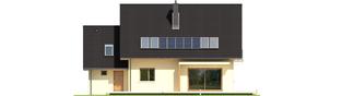 Projekt domu E5 G1 ECONOMIC (wersja A) - elewacja tylna