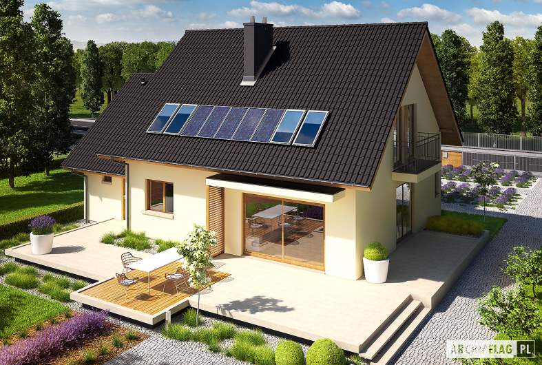 Projekt domu E5 G1 ECONOMIC (wersja A) - widok z góry